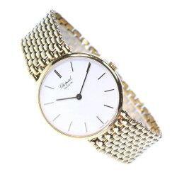 【Chopard】ショパール 1091 K18イエローゴールド クオーツ メンズ 白文字盤 腕時計【中古】A-ランク