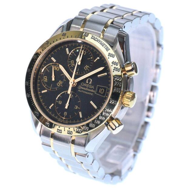 【OMEGA】オメガ スピードマスター 3313.50 K18イエローゴールド×ステンレススチール ゴールド 自動巻き メンズ 黒文字盤 腕時計【中古】SAランク