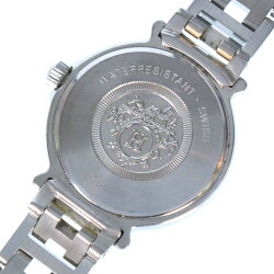 【HERMES】エルメス メテオール GP×ステンレススチール ゴールド クオーツ レディース 白文字盤 腕時計【中古】