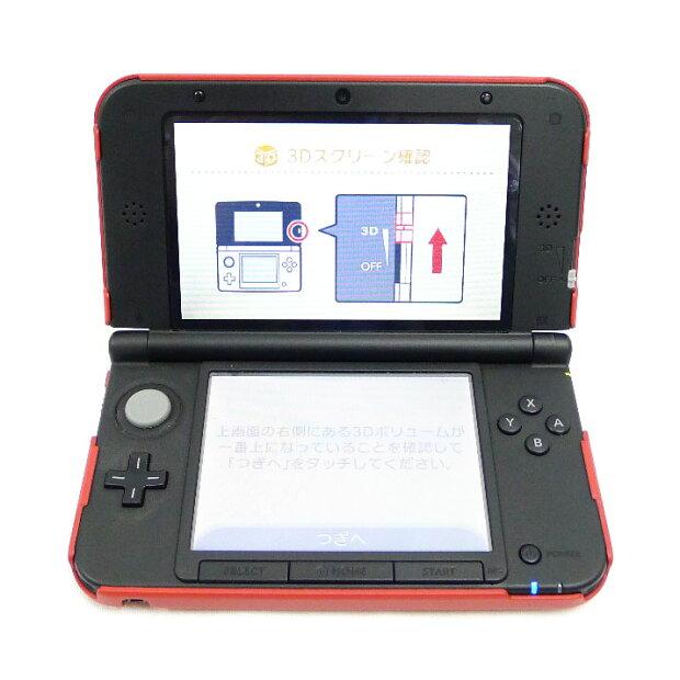 【Nintendo】ニンテンド− 3DS LL 本体(レッド×ブラック) ユニセックス ゲームハード【中古】A-ランク