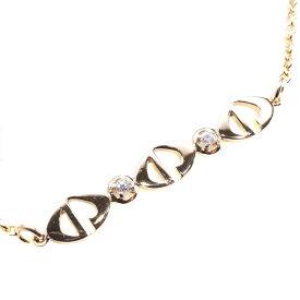 【Dior】ディオール CD ダイヤモンド K18ゴールド レディース ネックレス【中古】SAランク