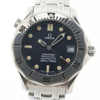 奥米伽海主人300M专业的2552.80不锈钢银子自动卷男孩青表盘手表A等级
