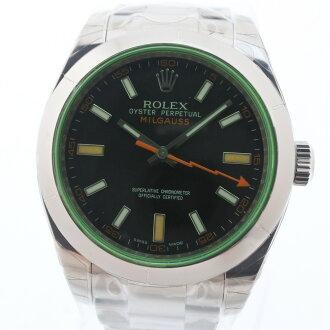 劳力士碾磨机高斯绿色玻璃V轮到116400GV不锈钢自动卷人钓樟属盘手表S等级