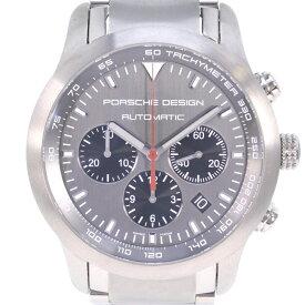【Porsche Design】ポルシェデザイン P6612 ダッシュボード 6612.11/2 チタン シルバー 自動巻き メンズ グレー文字盤 腕時計【中古】Aランク