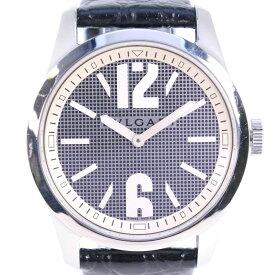 【BVLGARI】ブルガリ ソロテンポ ST37S ステンレススチール×レザー ブラック クオーツ メンズ シルバー文字盤 腕時計【中古】A-ランク