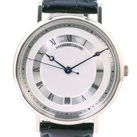 【Breguet】ブレゲ クラシック ツインバレル Ref.5930 G5930BB12986 K18ホワイトゴールド×レザー ブラック 自動巻き メンズ シルバー文字盤 腕時計【中古】A-ランク