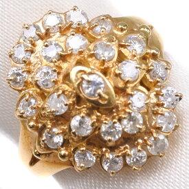 【9/20限定カードエントリーでP11倍確定】K18ゴールド×ダイヤモンド 9号 D 0.6刻印 レディース リング・指輪【中古】SAランク