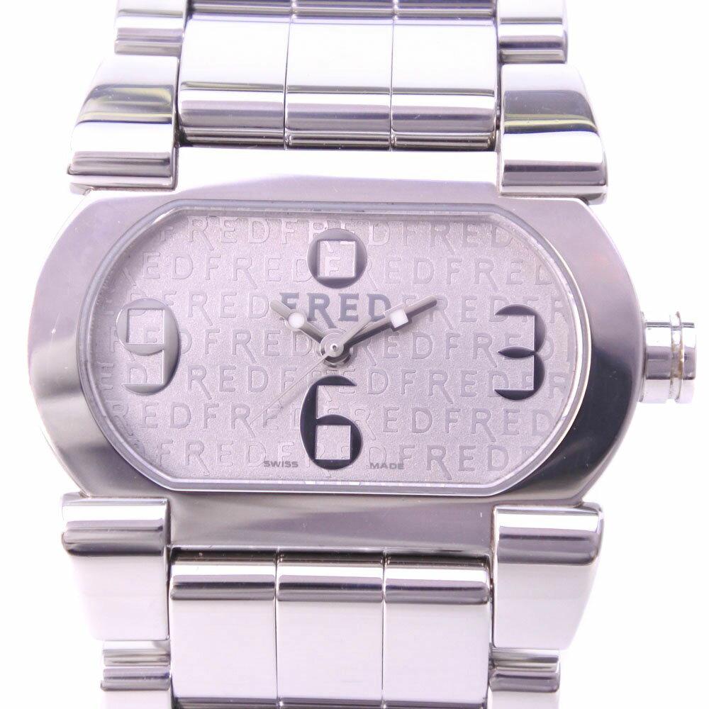 【FRED】フレッド ムーブワン FD012110 ステンレススチール クオーツ メンズ シルバー文字盤 腕時計【中古】A-ランク