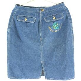 【BALLY】バリー デニム ブルー レディース スカート【中古】Aランク
