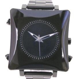 【INDEPENDENT】インディペンデント U000-002925-01 ステンレススチール クオーツ メンズ 黒文字盤 腕時計【中古】A-ランク