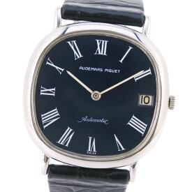 【AUDEMARS PIGUET】オーデマ・ピゲ K18ホワイトゴールド×レザー ブルー 自動巻き メンズ ネイビー文字盤 腕時計【中古】