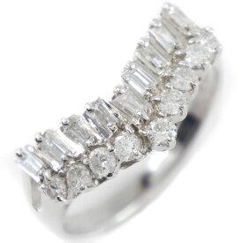 【9/20限定カードエントリーでP11倍確定】Pt900プラチナ×ダイヤモンド 11号 0.50 レディース リング・指輪【中古】SAランク