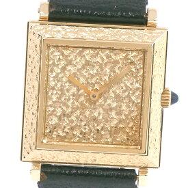 【Boucheron】ブシュロン スライド式ベルト K18イエローゴールド×レザー 手巻き レディース ゴールド文字盤 腕時計【中古】