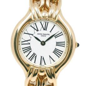 【PATEK PHILIPPE】パテックフィリップ La Flamme cal.E15 4836 K18イエローゴールド クオーツ レディース 白文字盤 腕時計【中古】A-ランク