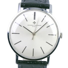 【VACHERON CONSTANTIN】ヴァシュロン・コンスタンタン cal.K1002/2 6563 ステンレススチール×レザー 手巻き メンズ シルバー文字盤 腕時計【中古】