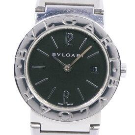 【BVLGARI】ブルガリ ブルガリブルガリ BB26SS ステンレススチール クオーツ レディース 黒文字盤 腕時計【中古】