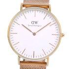 【Daniel Wellington】ダニエル・ウェリントン B36R6 ステンレススチール クオーツ ユニセックス 白文字盤 腕時計【中古】