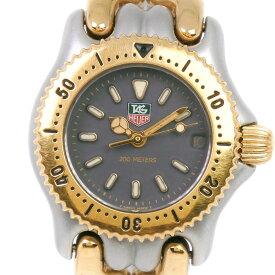 【10%OFFクーポン配布中!店内全品対象】【TAG HEUER】タグホイヤー セル S95.208M ステンレススチール×GP ゴールド クオーツ レディース グレー文字盤 腕時計【中古】