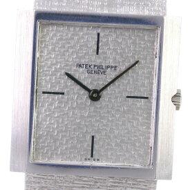 【PATEK PHILIPPE】パテックフィリップ スクエア cal.175 3491/3 K18ホワイトゴールド 手巻き メンズ シルバー文字盤 腕時計【中古】Aランク