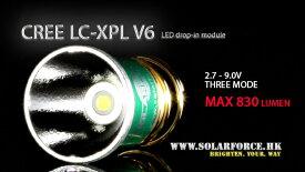 ソーラーフォース Cree LED XP-L V6 バルブ 電球 ドロップインモジュール 3モード 電圧2.7V-9V対応 Solarforce 懐中電灯/フラッシュライト用 P60互換 シュアファイア / ウルトラファイア / G&Pの一部ライトに装着可能