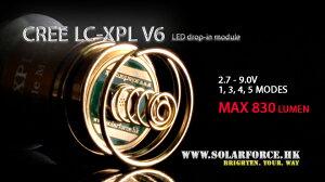 SolarforceCreeXPLV6バルブ★4mode2.7V-9V★