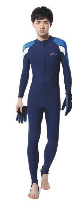 ラッシュガード ウェットスーツインナー 一体型 水着 男性用 ダイビング ウェア 新型 ダイブスキン メンズ 日焼け防止 UPF 50+ UVカット 素材 ナイロン SPENDEX 伸縮性素材 ブルー ピンク XS/S/M/L LS-715 Dive&Sail 送料無料