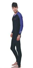 ラッシュガード ウェットスーツインナー 一体型 男性用 ダイビング ウェア ダイブスキン メンズ 日焼け防止 UPF 50+ UVカット 素材 ナイロン SPENDEX 伸縮性素材 ピンク S/M/L/XL/XL/XXL/XXXL/XXXXL LS-704 Dive&Sail 送料無料