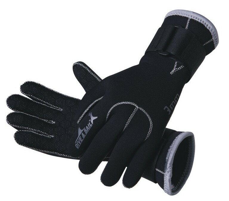 マリングローブ Dive&Sail 3mm ネオプレン素材 ダイビング 手袋 色/ 黒 ブラック S/M/L/XL