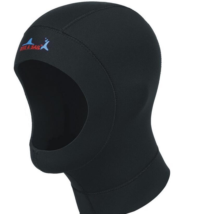 ウエットスーツ フード Dive&Sail サーフフード ダイビングフード 男女兼用 ネオプレン素材 ウエットスーツフード の厚さ 3mm ブラック S/M/L/XL DH-001