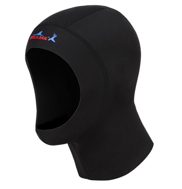 ウエットスーツ フード Dive&Sail サーフフード ダイビングフード 男女兼用 ネオプレン素材 ウエットスーツフード の厚さ 1mm ブラック S/M/L/XL DH-002