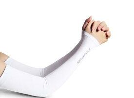 アームカバー SPAKCT ECO 冷感 UVカット 両腕2枚組 日焼け防止 男女兼用 サイクル/サイクリング/ランニング /アウトドア/運転用 白