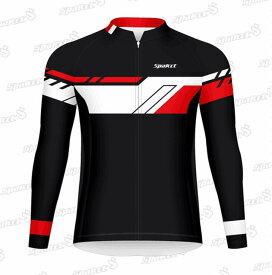 サイクルウェア SPAKCT ヒーロー サイクル ジャージ ロードバイク/サイクリング/アウトドア用 メンズ 男性用 長袖 赤/黒 ポリエステル素材 YKKファスナー イタリアインク S/M/L/XL/XXL s17c16 送料無料