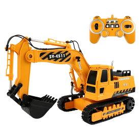 Double Eagle ラジコンパワーショベルカー 採掘 重機 1/20スケール ダブルイーグル 玩具 おもちゃ R/C プレゼント 工事現場 コントローラー 2.4GZ 採掘 ブーム アーム 遊び 回転 進行 後退