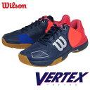 再入荷しました ウイルソン:Wilson ベルテックス:VERTEX WRS321680U ネイビー バドミントンシューズ