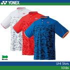 ヨネックス:YONEX シャツ 10186 UNISEX:男女兼用 ゲームウェア ゲームシャツバドミントン テニス バドミントンウェア・テニスウェア 日本バドミントン協会審査合格品サイズ:S,M,L,O,XO