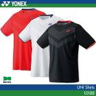 ヨネックス:YONEX シャツ 10188 UNISEX:男女兼用 ゲームウェア ゲームシャツバドミントン テニス バドミントンウェア・テニスウェア 日本バドミントン協会審査合格品サイズ:S,M,L,O,XO