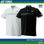 ヨネックス:YONEX シャツ(フィットスタイル) 10191UNISEX:男女兼用 ゲームウェア バドミントン・テニスウェア 日本バドミントン協会審査合格品 日本ソフトテニス連盟ユニフォーム基準準拠サイズ:S,M,L,O,XO