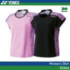 ヨネックス:YONEX シャツ 20364 Wレディース 女性用 ゲームウェア ゲームシャツ バドミントン テニス バドミントンウェア・テニスウェア 日本バドミントン協会審査合格品サイズ:S,M,L,O,XO,2XO