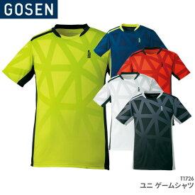 40%OFF!! ゴーセン GOSEN ゲームシャツ T1726 ユニ 男女兼用 ゲームウェア バドミントン テニス バドミントンウェア テニスウェア 日本バドミントン協会審査合格品 セール品につき、キャンセル・返品・交換はできません。