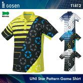 ゴーセン:GOSEN星柄ゲームシャツT1812UNISEX:男女兼用ゲームウェアゲームシャツバドミントンテニスバドミントンウェアテニスウェアサイズ:S,M,L,LL,XL日本バドミントン協会審査合格品