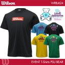 ウイルソン:Wilson 専門店会オリジナル ウイルソンベアー Tシャツ WRBJ624 UNISEX:男女兼用 Tシャツ バドミントンTシャツ バドミントン ...