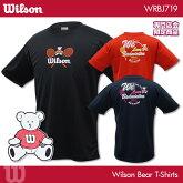 ウイルソン:WilsonウイルソンベアTシャツWRBJ719UNISEX:男女兼用バドミントンTシャツ専門店会限定商品