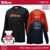 ウイルソン:WilsonウイルソンベアロングスリーブTシャツWRBJ720UNISEX:男女兼用バドミントンTシャツ長袖TシャツロングTシャツ専門店会限定商品