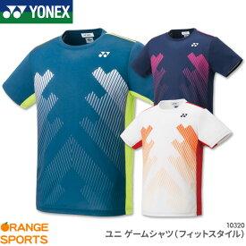 ヨネックス YONEX ゲームシャツ(フィットスタイル) 10320 ユニ 男女兼用 ゲームウェア ユニフォーム バドミントン テニス 日本バドミントン協会審査合格品