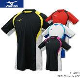 専門店会限定モデルミズノ:MIZUNOゲームシャツ72JA8X12UNISEX:男女兼用ゲームウェアユニフォームバドミントンテニス日本バドミントン協会審査合格品