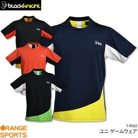 black knight ブラックナイト ゲームウェア T-9562 ユニ 男女兼用 バドミントン テニス スカッシュ ゲームシャツ ユニフォーム 日本バドミントン協会審査合格品