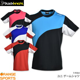 30%OFF ブラックナイト black knight ゲームウェア T-9584 ユニ 男女兼用 バドミントン テニス ゲームシャツ ユニフォーム 日本バドミントン協会審査合格品品 セール品につきキャンセル・交換・返品不可