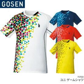 38%OFF!!ゴーセン GOSEN ゲームシャツ T1722 ユニ 男女兼用 ゲームウェア バドミントン テニス バドミントンウェア テニスウェア 日本バドミントン協会審査合格品 セール品につき、キャンセル・返品・交換はできません。