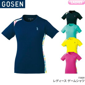 40%OFF!! ゴーセン GOSEN ゲームシャツ T1809 レディース 女性用 ゲームウェア ゲームシャツ バドミントン テニス バドミントンウェア テニスウェア 日本バドミントン協会審査合格品 ご注文後のキャンセル・返品・交換不可