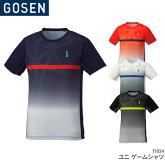 ゴーセン:GOSENゲームシャツT1816ユニ男女兼用バドミントンテニスユニフォーム日本バドミントン協会審査合格品